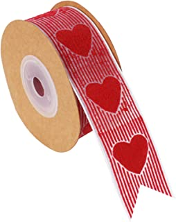 Valentine's Day Lace Ribbon Roll for Craft Gift Wrapping Decorations, 25 mm x 16.4 ft