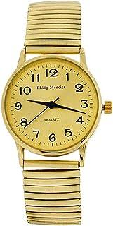 b0fc7b447 Philip Mercier Ladies Goldtone Expander Bracelet Strap Dress Watch MC57B