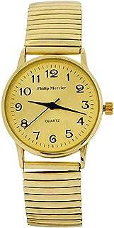 Philip Mercier Ladies Goldtone Expander Bracelet Strap Dress Watch MC57B