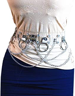 RARITYUS Punk PU Leather Waist Chains Beach Ring Body Garter Harness Gothic Leg Cage Chain Fashion Belts Adjustable