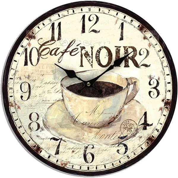 EFR 咖啡 Noir 咖啡石英挂钟 11