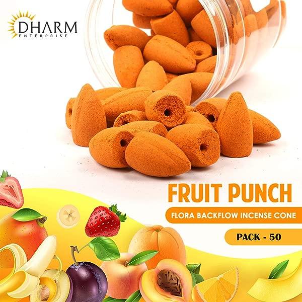 达摩交易倒流香锥 1 英寸装 50 个天然橙子带水果打孔香氛
