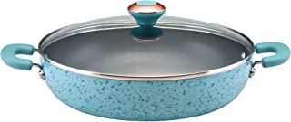 Paula Deen Signature Porcelain Nonstick 12-Inch Covered Chicken Fryer, Aqua Speckle - 12506