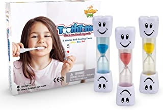 2 Minute Timers for Brushing Teeth 3-Pack Fun, Colorful Hourglass Sand Counter - stocking stuffers - Easy to Use for Kids Boys and Girls - Promotes Proper Dental