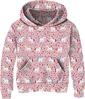 Funnycokid Little Girls Hoodies Kids Sweatshirts Pullover Hooded Jumpers 4-14Y