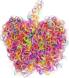 Hedmedum 1000 st disponibla flerfärgade gummiband hållare hårband elastiska gummiband elastiska hårband för baby flickor