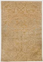Safavieh Tibetan Collection TB317B Hand-Knotted Green and Gold Silk & Wool Area Rug (8' x 10')