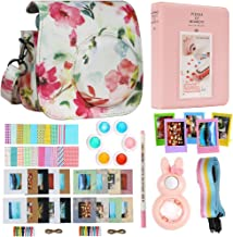 Alohallo Instax Mini 9 Mini 8 Mini 8 + Accessories for FujiFilm Instax Mini 8/8+/ 9 Instant Film Camera with Camera Case/Lens / Mini Album/Color Frame/Sticker / Strap/Pens/ Filter(Flower 2)