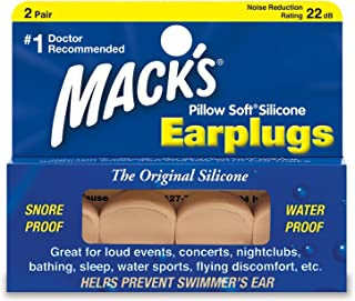 Mack's Pillow Soft Earplugs, Original Silicone, 2 pr