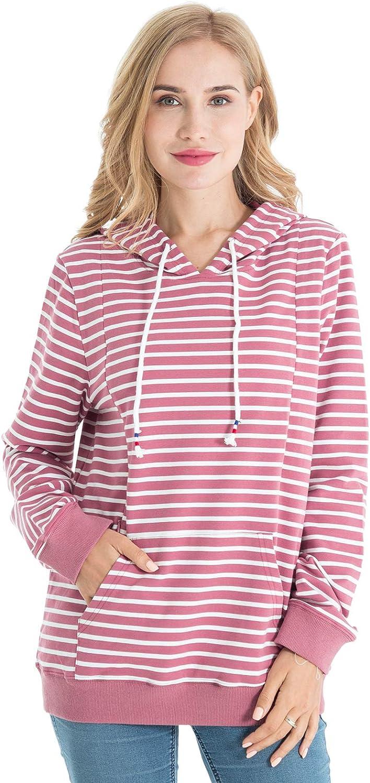 Bearsland Ranking TOP8 Women's Maternity Sporty Ultra-Cheap Deals Shirt Nu Breastfeeding Hoodie