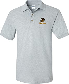 US Marines Custom Personalized Embroidery Embroidered Golf Polo Shirt