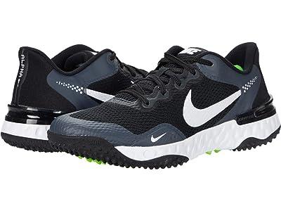 Nike Alpha Huarache ELT 3 Turf (Black/White/Iron Grey/Smoke Grey) Shoes