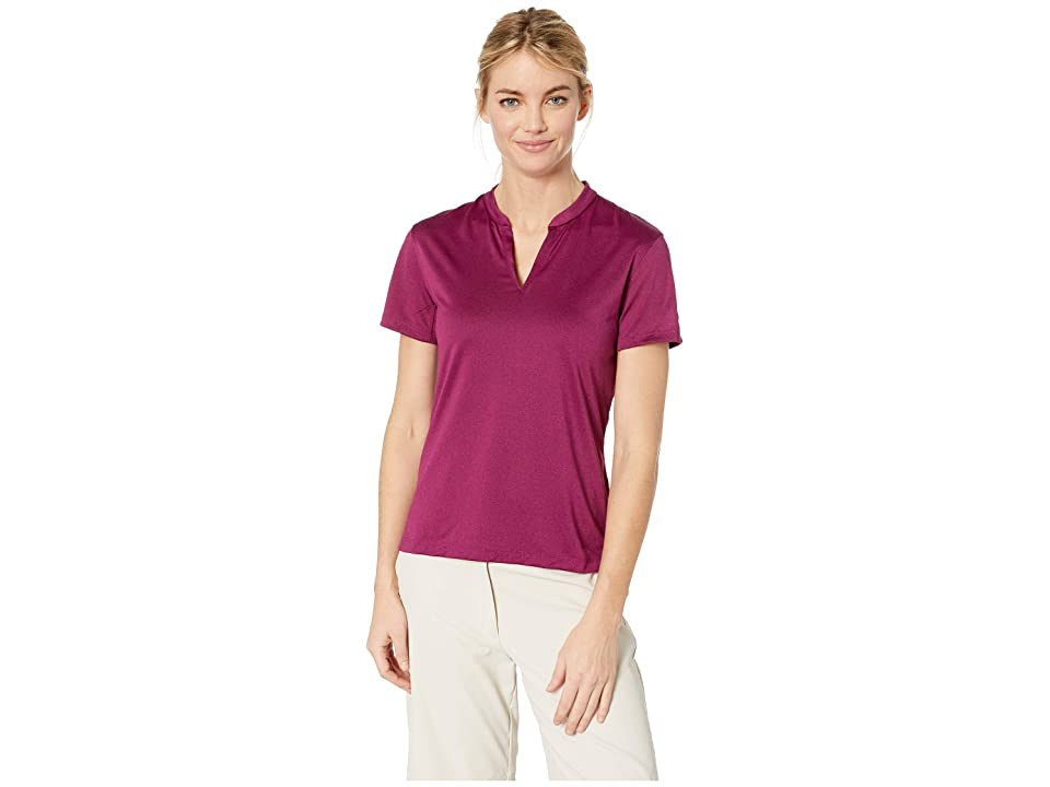 Nike Golf Zonal Cooling Polo Short Sleeve Jacquard (True Berry/True Berry) Women's Short Sleeve Pullover, Multi