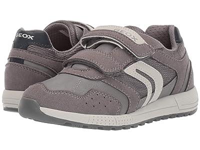 Geox Kids Jr Alben 7 (Little Kid) (Grey/Navy) Boys Shoes