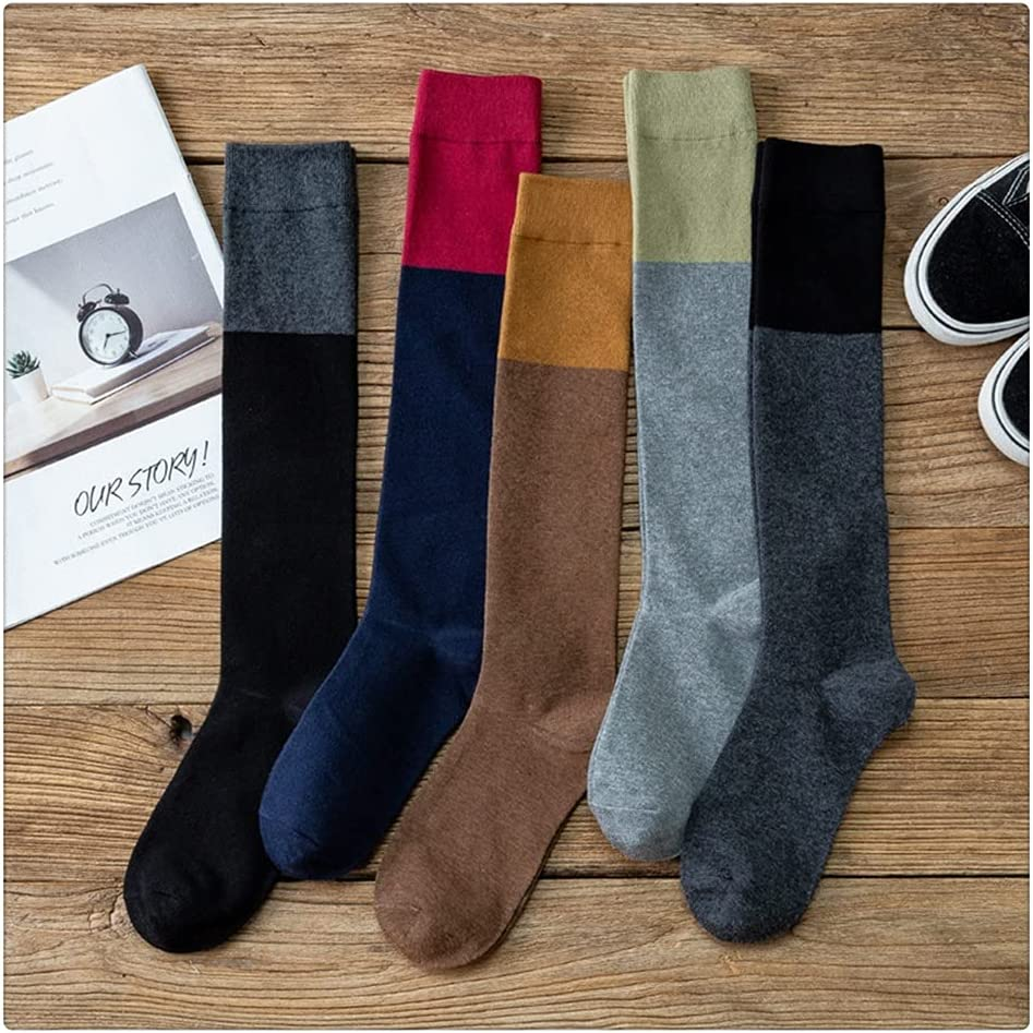 ADKHF 5 Pair Cotton Cheap Ladies Limited time sale Knee Socks S High Women Student