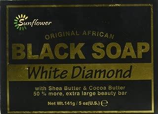Sunflower Black Soap, White Diamond, 5 Ounce