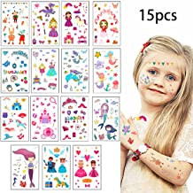 Mermaid Tattoos Stickers Mermaid party Supplies Mermaid Tattoos For Kids-Mermaid Birthday Party Favors-15+3 sheets More Than 100+ Match Mermaid Tail Tattoos Party Decoration