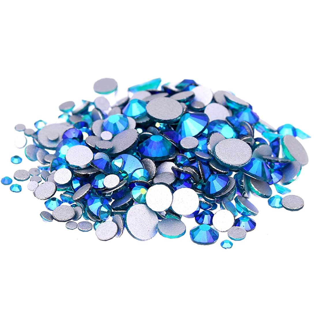 ビリー私たち自身アーカイブNizi ジュエリー ブランド ブルージルコンオーロラ ラインストーン は ガラスの材質 ネイル使用 型番ss3-ss30 (SS16 1440pcs)