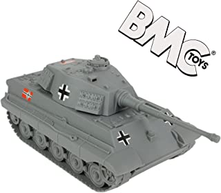 BMC WWII Gray German King Tiger Toy Tank 1:32 Scale for 54mm Army Men Soldier Figures