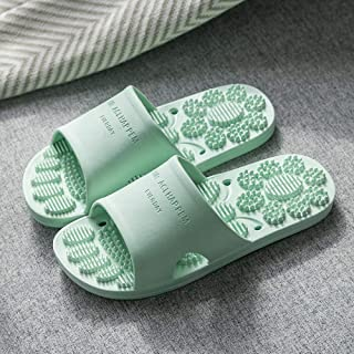 High quality Beach Pool Sandals,Soft bottom antiskid bathroom sandals, indoor men and women sandals,green.5UK7Women/Mens Shower Sandals Slip On Slippers