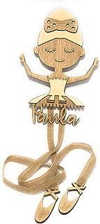 Organizador de accesorios de pelo Bailarina en madera personalizado
