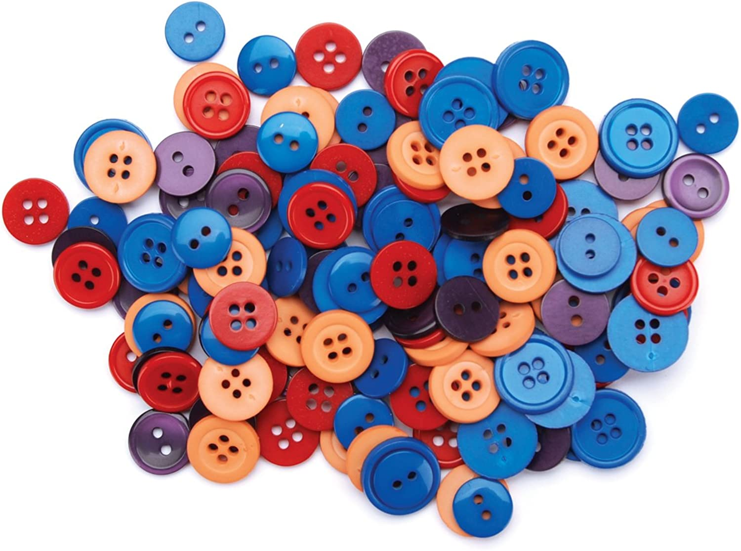 Favorite Findings Basic Buttons Assorted Sizes 130 PkgFiesta 130 pkg