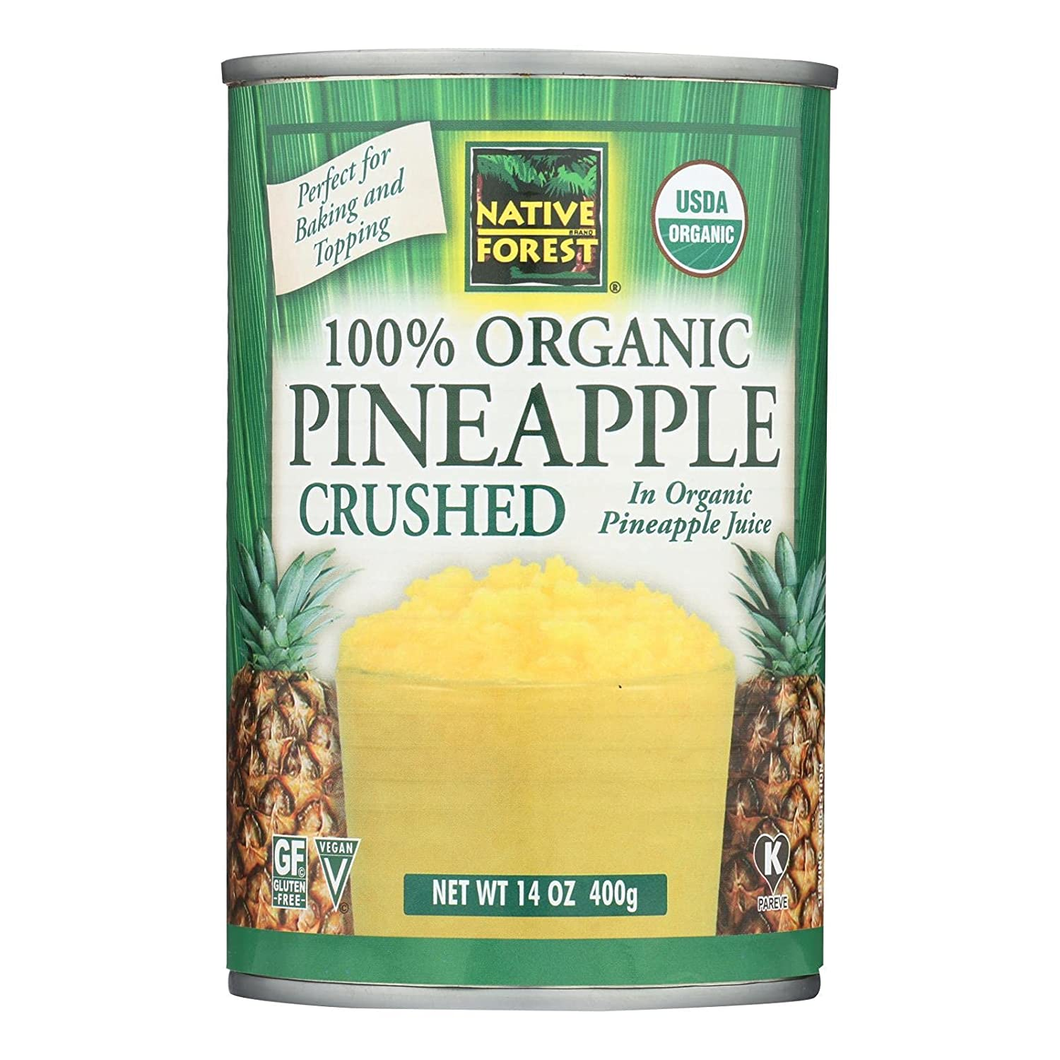 Native Japan's largest assortment Forest Pineapple Organic Crushed of 6 14-Ounce Pack Sales results No. 1