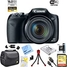 Canon PowerShot SX530 HS 16.0 MP 50x Opt Zoom 1080p Full HD Digital Camera Black