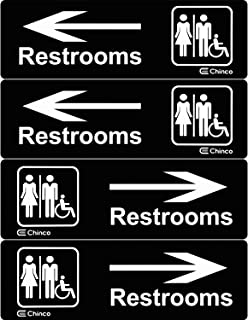 Best directional bathroom signs Reviews