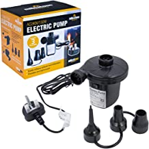 Milestone Camping 83150 AC240V/130W Electric Air Pump Inflator/Deflator for airbeds, paddling pools & toys
