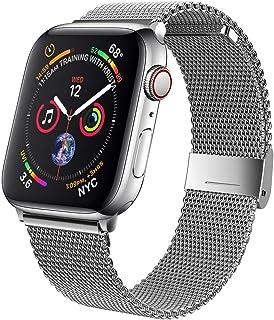Correa compatible con reloj Apple de 38 40 42 44 mm, pulsera deportiva de malla de acero inoxidable ajustable para series de iWatch 6/5/4/3/2/1, SE