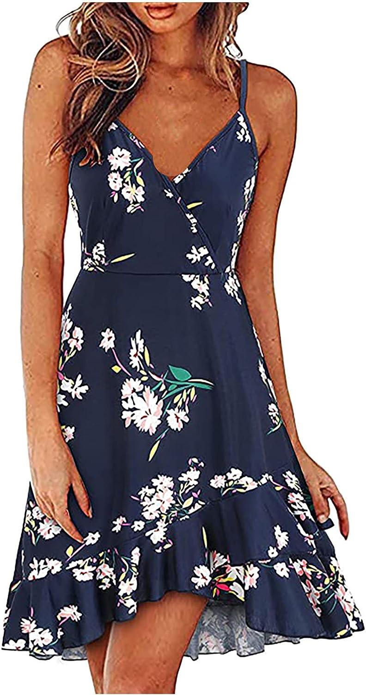 Qonii Max 71% OFF Ruffle Dress for Women Neck V Austin Mall Spaghetti Strap