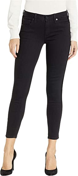 Leather Onside Skinny Jeans in Black