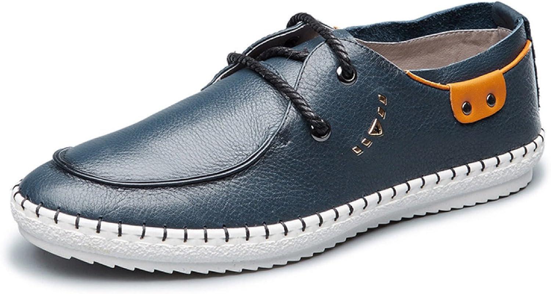 MUYII Men's Oxfords Leather shoes For Men Plain Toe shoes Casual Sport Mens Comfortable shoes