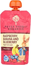 Peter Rabbit Organics, Organic Pure Fruit Pouch; Raspberry, Banana And Blueberry, Pack of 10, Size - 4 OZ, Quantity - 1 Case