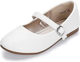 Hehainom Toddler/Little Kid Girl's Regina Classic Ballet Flats Dress Shoes Buckle School Uniform Shoes