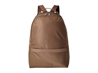 Lipault Paris Lady Plume Medium Backpack (Dark Taupe) Backpack Bags