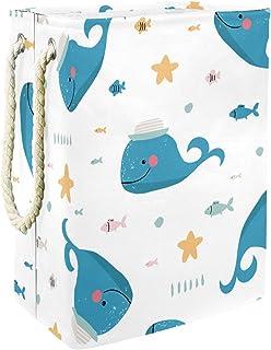 Vockgeng Mer des Baleines Bacs de Stockage Panier de Rangement imperméable Pliable de Jouets de Jouets de Panier avec des ...