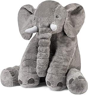 象のぬいぐるみ ふわふわなおもちゃ 像ゾウ ぬいぐるみ 子供達の為の柔らかい大きなギフト 60CM グレー