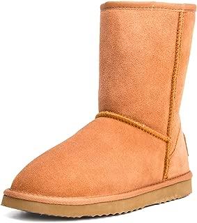 Women's Leather Winter Boot Classic Half Snow Boot