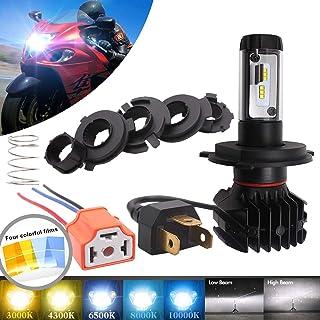 تعویض لامپ چراغ قوه چراغ موتور سیکلت LED H4 / 9003 LED - تعویض لامپ چراغهای جلو پرتوی بالا / کم 500000 لامپ ، کیت تبدیل جهانی - پنج گزینه رنگ DIY (3000K / 4300K / 6500K / 8000K / 10000K)