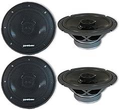 "4 x Powerbass S-6502 6.5-inch 2-Way Car Audio Coaxial Speakers 6-1/2"" photo"