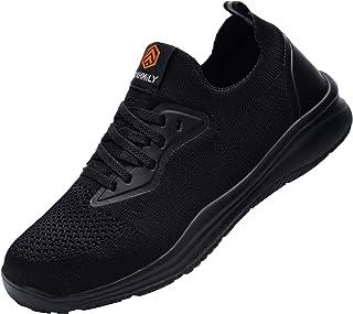 DYKHMATE Zapatillas de Seguridad Impermeable Mujer Punta de Acero Calzado de Trabajo Ligero Transpirable Botas de Segurida...