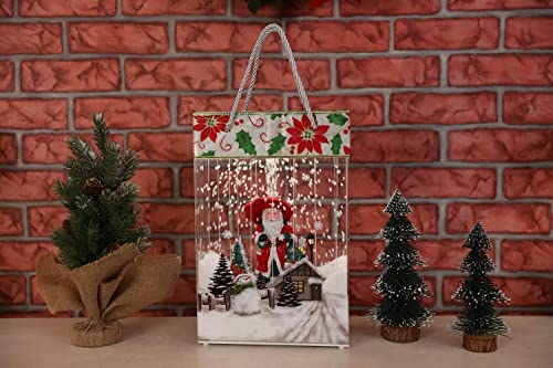 new arrival SkyMall discount Decorative online sale Snowing LED Lighted 8 Song Santa Snowman Holiday Display Bag outlet sale