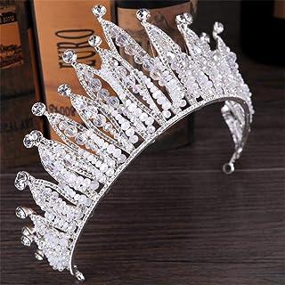 FELICILII Diadema Nuziale Accessori for Capelli Barocco Corona Corona da Sposa Accessori Corona