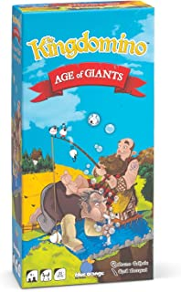 Blue Orange Games Kingdomino Age of Giants Expansion - Kids, Family or Adult Strategy Board Game Extension for Award Winning Kingdomino or Queendomino Games - 2 to 5 Players. Recommended for Ages 8+