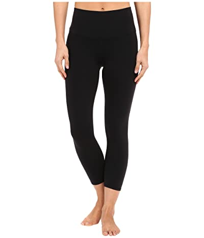 ALO High Waist Airbrush Capris (Black) Women