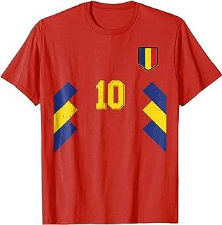 Retro Romania Soccer Jersey Away Romanian Football T-Shirt