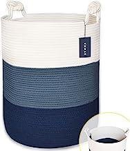 "COMSE Extra Large Blanket Basket, High Storage Basket, Tall Rope Laundry Basket, 15.7""x 21.7"", Cotton Rope Basket, XXXL La..."