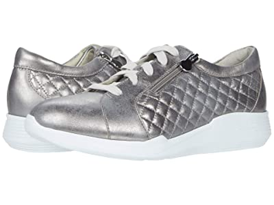 Munro Emmie (Metallic Grey Leather/Manmade Quilt) Women